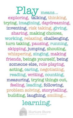 Why is play important for children's development - free printable poster :: play based learning Play Quotes, Learning Quotes, Education Quotes, Quotes About Play, Quotes About Children Learning, Learning Goals, Play Based Learning, Learning Through Play, Early Learning