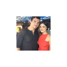 Ian Harding Lucy Hale Pretty Little Liars ❤ liked on Polyvore featuring ian harding