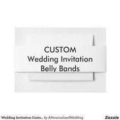 Wedding Invitation Custom Belly Bands Wraps Invitation Belly Band