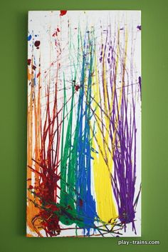 Painting with Toy Trains on Canvas, Now with Extra Pretend Play @ Play Trains!