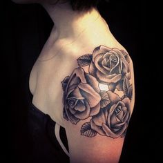 Last one of the day on a lovely woman from Toronto. #rose #tattoo #soho #nyc #wssc