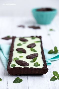 Chocolate Mint Tarte / Schokolade Pfefferminz Minze After Eight Kuchen