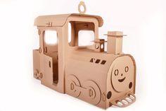 Картонный паровоз для игры www.moms-key.ru