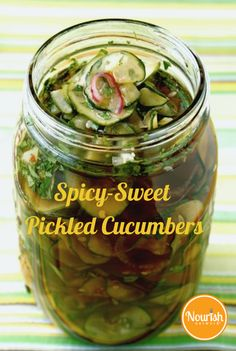 Refrigerator Spicy-Sweet Pickled Cucumbers - NOURISH Network