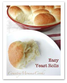 Easy Yeast Rolls  @CountryMommaCooks