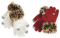 #MudPie Faux Fur Leopard Texting #Gloves  Price : $12.95 http://www.whimsicalumbrella.com/Mud-Faux-Leopard-Texting-Gloves/dp/B00L3JKEQC #whimsicalumbrella