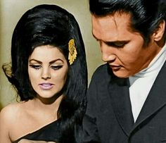 Elvis and Priscilla - (colorized picture)
