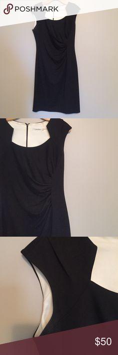 Selling this Calvin Klein Black Fitted Dress on Poshmark! My username is: mcdonss. #shopmycloset #poshmark #fashion #shopping #style #forsale #Calvin Klein #Dresses & Skirts