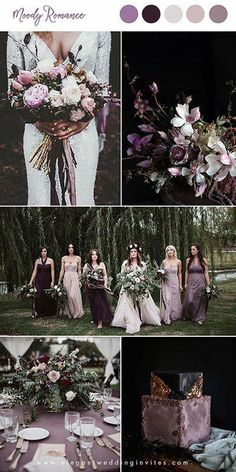 10 hübsche Schattierungen von lila Hochzeit Farbkombinationen – 10 pretty shades of purple wedding color combinations – # color combinations … Wedding Centerpieces, Wedding Bouquets, Wedding Flowers, Wedding Decorations, Wedding Scene, Purple Bouquets, Wedding Arrangements, Fall Flowers, Fall Decorations