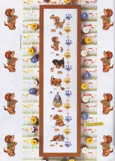 Gallery.ru / Фото #61 - Las Labores de Ana Extra 47 - tymannost Cross Stitch For Kids, Cross Stitch Boards, Cross Stitch Baby, Cross Stitch Patterns, Growth Chart Wood, Growth Charts, Height Chart, Baby Growth, Dog Crafts