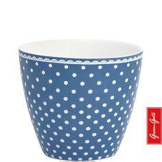 Latte Cup ~ Spot ~ Indigo | GreenGate