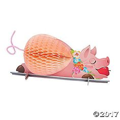 "When you can't get the real thing, this decoration makes a ""swine"" alternative. Cooking a pig is an important part of Hawaiian Luau ..."