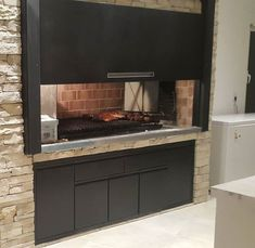 Parrilla Interior, Terrace Grill, House Yard, Pent House, Outdoor Cooking, Grilling, Bbq, Villa, House Design