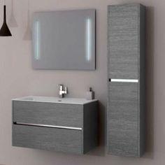 Arredo mobile bagno Slot 1 - Iotti Floating Bathroom Vanities, Bathroom Red, Bathroom Cabinets, Bathroom Furniture, Duplex House Design, Apartment Design, Washbasin Design, Toilet Sink, Tv Wall Design