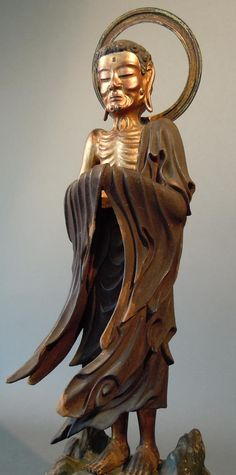 常保寺出山釈迦像:東京都青梅市所在。釈迦は29歳で出家し、山に篭り6年間修行をしたが悟りが得られなかった。当像は修行を終え山を出る時の痩せこけ肋骨が浮き出た様子を表したもの。出山後、釈迦はブッダガーヤの菩提樹の下で悟りを開いた。