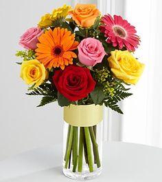 gerbera daisies & roses