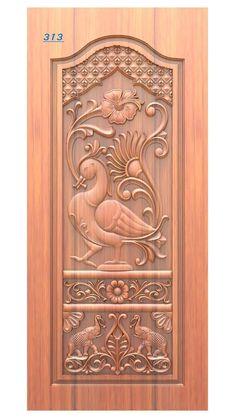 Single Door Design, Wooden Main Door Design, House Front Design, Small House Design, Pop False Ceiling Design, Kerala House Design, Door Design Interior, Wood Carving Designs, Wooden Doors