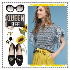 """Queen Bee"" by abmcgrath on Polyvore featuring Prada, Father's Daughter, Pier 1 Imports, Circus by Sam Edelman and Jon Josef"