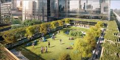 Australian developer Lendlease has unveiled plans for a new billion-dollar city precinct for Melbourne, which will have a floating sky park at its heart. Melbourne Quarter will be a . One With Nature, School Holidays, Health And Wellbeing, Go Green, Park City, Rooftop, Most Beautiful Pictures, In The Heights, Melbourne