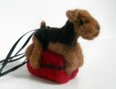 This little guy is so adorable!  Your pet for Christmas  Fibreheart Wool Studios  #thecraftstar