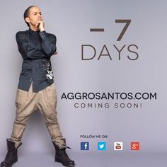 All new Aggro Santos . Com up in #7days with more Music/interviews/info and brand new blog!!