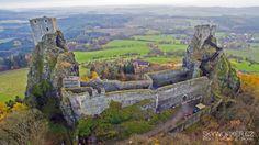 Hrad / Castle Trosky z dronu