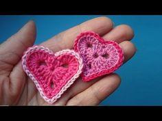 Как вязать Валентинку Crochet heart Урок 327