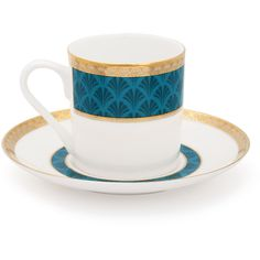 Mrs Moore's Vintage Store Harley Coffee Cup & Saucer - Turquoise ($71) ❤ liked on Polyvore featuring home, kitchen & dining, drinkware, blue, espresso coffee cups and saucers, espresso cups and saucers, coffee cups and saucers and coffee cup saucer