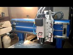 CNC Router - Fixed Gantry: Overview and first cut with aluminum - YouTube
