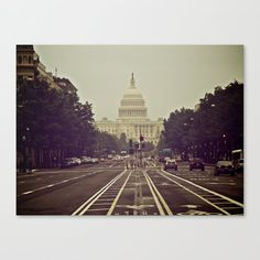 Capitol from Pennsylvania Ave Canvas Print by