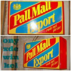 "pall mall export-lamp ""rook met plezier"" ""smoke with pleasure"" @onyxdewinkel.nl"