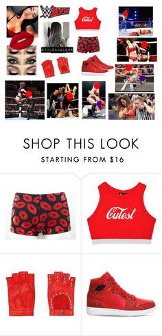 """""""WWE live event in Bossier City - Karlee vs Nikki Bella"""" by wwedaninoel ❤ liked on Polyvore featuring Mario Portolano, NIKE, WWE and Lime Crime"""
