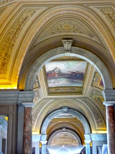 Beautiful ceilings inside the Vatican Museums