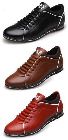 Men Large Size Microfiber British Style Sport Walking Casual Shoes