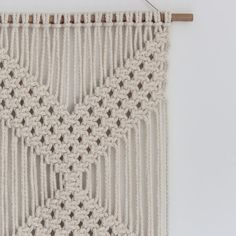 Macrame Wall Hanging CHEVRONS Ecru by ButtermilkDesignCo on Etsy