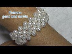 (34) # DIY - Pulsera de novia # DIY - Bridal Bracelet - YouTube