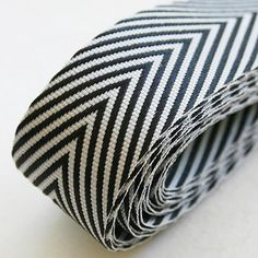 Herringbone Ribbon, Black