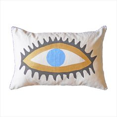Evil Eye Cushion Cover by Ourlieu Bed Pillows, Cushions, Evil Eye Charm, Cool Eyes, Interior And Exterior, Pillow Cases, New Homes, House Design, Cover