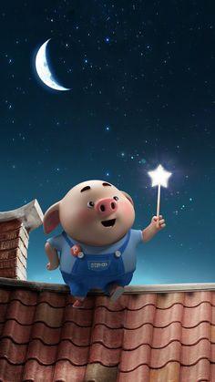 Wallpaper Iphone Funny Illustration 64 Ideas For 2019 Pig Wallpaper, Wallpaper Iphone Disney, Trendy Wallpaper, Kawaii Pig, Cute Funny Cartoons, Cute Piglets, 3d Art, Pig Illustration, Baby Pigs