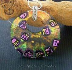 AAE Glass Art Studio Blog: AAE Glass New Dichroic Fused Glass Jewelry and Decals
