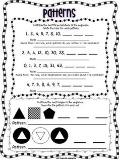 follow the rules number patterns school pattern worksheet grade 6 math third grade math. Black Bedroom Furniture Sets. Home Design Ideas