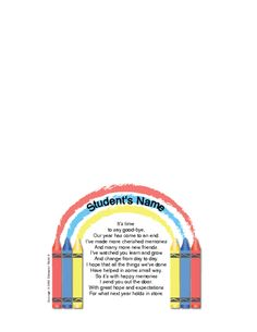 Education World: Student Goodbye Letter Template