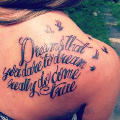 Dreams that you dare to dream really do come true. Tattoo inspired by The Wizard of Oz