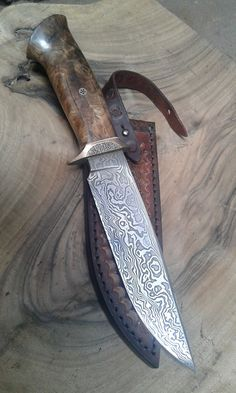 Damascus bowie#damascusknives#custombowieknives