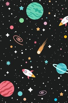 Outer Space Wallpaper, Space Phone Wallpaper, Planets Wallpaper, Galaxy Wallpaper, Iphone Wallpaper, Space Backgrounds, Cute Wallpaper Backgrounds, Cute Wallpapers, Space Drawings