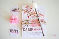 Fall Camping Glamping Birthday Party by twinklelittleparty on Etsy Printable Invitations, Party Printables, Party Invitations, Invites, 5th Birthday Party Ideas, Birthday Parties, Teepee Party, Sleepover Party, Party Time