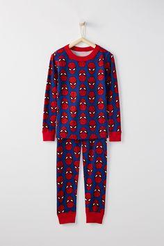 Marvel Long John Pajamas in Pure Organic Cotton For Kids by Hanna Andersson  Marvel Pajamas 2da2f83ea
