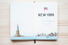 city travel places inspiration art illlustration kondo yoshie artist tokyo illustrators society new york austria holland germany crotia belgium czech on pumpernickel pixie