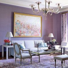 Jamie Drake Decorates an Upper West Side Apartment in Purple : Architectural Digest
