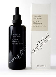 KAHINA 100% ORGANIC ARGAN OIL      Extremely rich in Vitamin E and antioxidants, argan oil has been shown to:    • Minimize fine lines  • Restore elasticity  • Improve skin tone  • Soothe irritation  • Neutralize free radicals that cause signs of aging  • Protect the skin from harmful environmental agents.